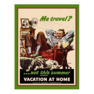 Vacation at Home Postcard