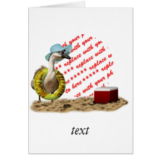 Vacation at the Beach Goose Photo Frame Greeting Card