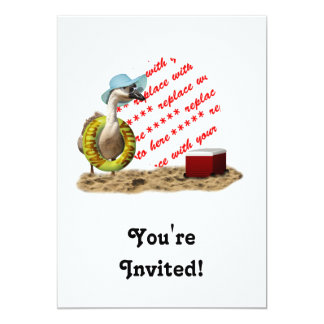 Vacation at the Beach Goose Photo Frame 5x7 Paper Invitation Card