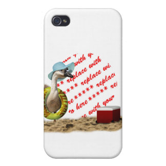 Vacation at the Beach Goose Photo Frame iPhone 4 Covers