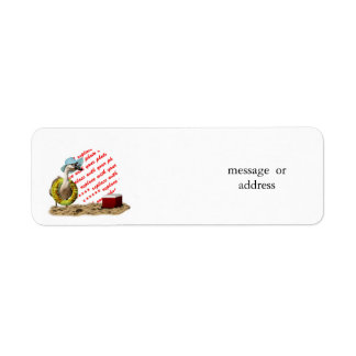 Vacation at the Beach Goose Photo Frame Return Address Label