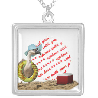 Vacation at the Beach Goose Photo Frame Necklaces