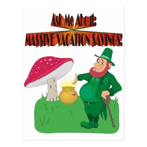 Vacation $avings!!! postcard