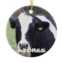 Vacation Azores Cow Whale Christmas Ornament