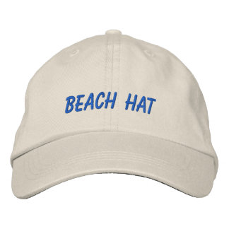 Vacation Beach Hat Words Custom Wording and Color