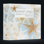 """Vacation Beach House Guest Information Binder<br><div class=""""desc"""">Vacation Beach House Rental Guest Information Book Binder with a Starfish Theme. This binder is perfect for all of your guest information. It has a beautiful coastal starfish print with realistic starfish and several others overprinted in white on light blue background. Look for other products with this design in my...</div>"""