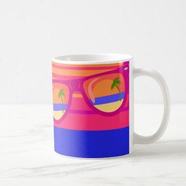 Beach Themed Vacation Beachy Shades Coffee Mug