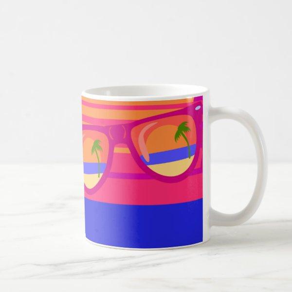 Vacation Beachy Shades Coffee Mug