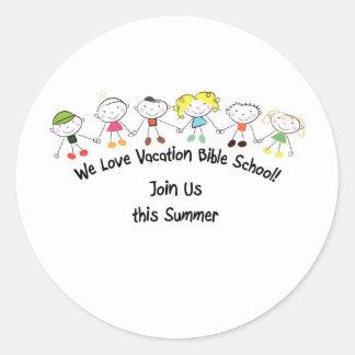Vacation Bible School Classic Round Sticker