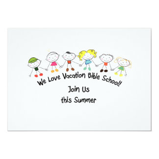 Vacation Bible School Custom Invitation