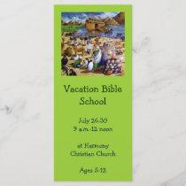 Vacation Bible School Invitation: Painting of Noah