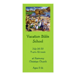Vacation Bible School Invitation: Painting of Noah Rack Card