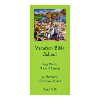Vacation Bible School Invitation: Painting of Noah Rack Card