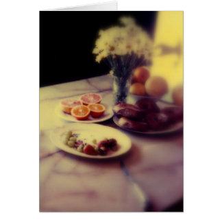 Vacation Breakfast of Fruit & Bagels Card