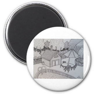 Vacation by Piliero 2 Inch Round Magnet