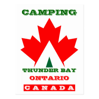 Vacation Camp Postcard Canada Maple Leaf Tent PC