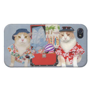Vacation Cats iPhone 4 Cover
