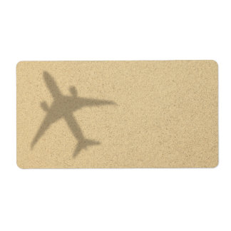 Vacation Concept. Sandy Beach With Shadow Plane Label