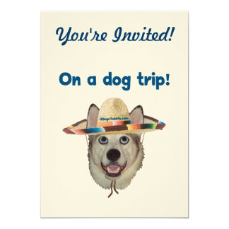 Vacation Dog Trip 5x7 Paper Invitation Card
