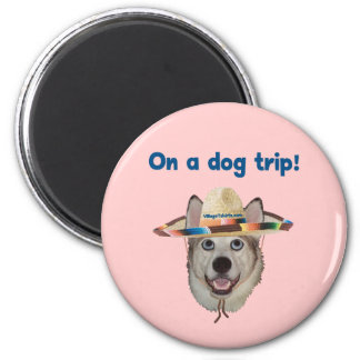 Vacation Dog Trip Refrigerator Magnet