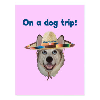 Vacation Dog Trip Postcard