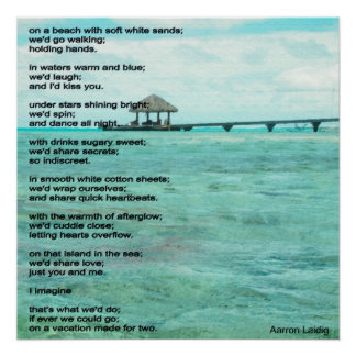 Vacation for two poem poster