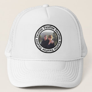 Vacation Frame Circle Add Your Photo Trucker Hat