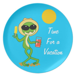 Vacation Frog Dinner Plate