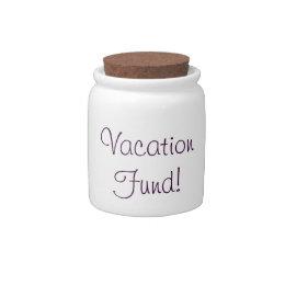 Vacation Fund Jar Candy Dish