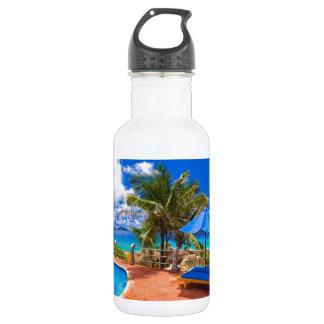 Vacation Getaway Stainless Steel Water Bottle