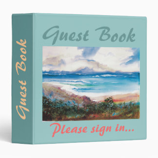 Vacation Guest Book binder