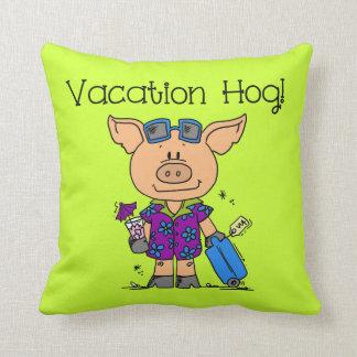 Vacation Hog Throw Pillows