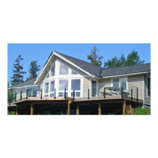 """Vacation Home 8""""x4"""" Photo Card"""