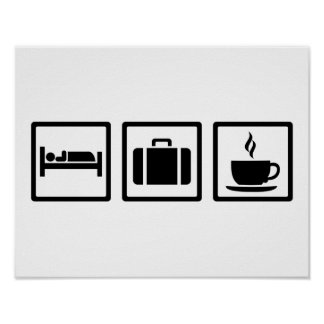 Vacation hotel luggage poster