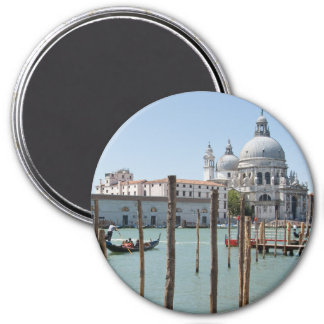 Vacation in Venice landscape 3 Inch Round Magnet