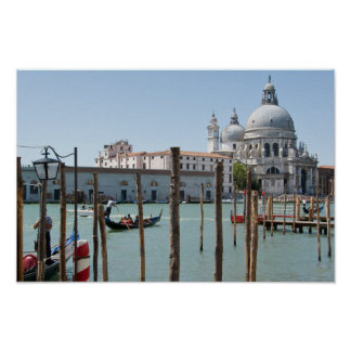 Vacation in Venice landscape Poster