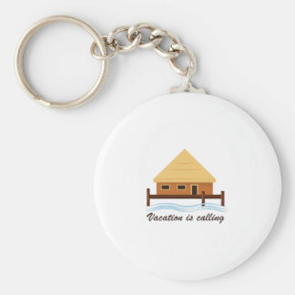 Vacation is Calling Basic Round Button Keychain