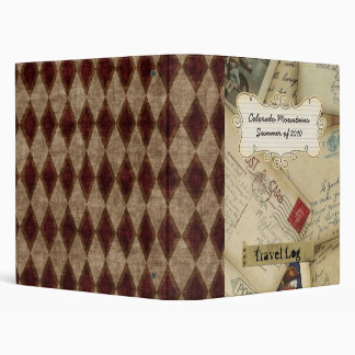 vacation journal scrapbook/ photo album/ journal 3 ring binder