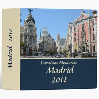 Vacation memories Madrid 2'' Binder