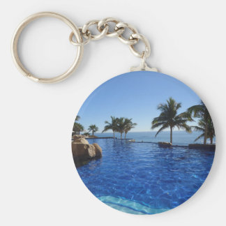 vacation merchandise basic round button keychain