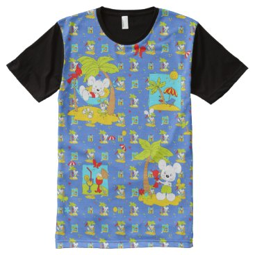 Beach Themed Vacation Mouse All-Over-Print Shirt