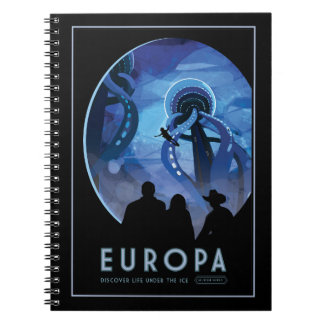 Vacation on Europa - Icy Moon of Jupiter Spiral Notebook