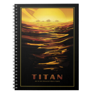 Vacation on Titan - Moon of Saturn Spiral Notebook