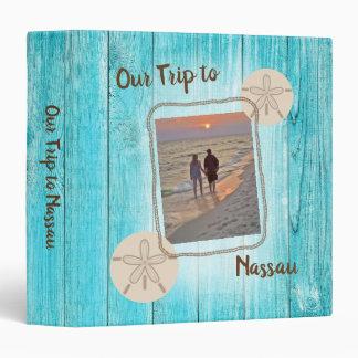 Vacation Photo Album Blue Board Sand Dollar 3 Ring Binder