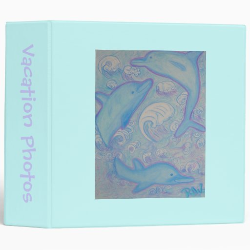 Vacation Photo Album -happy dolphins Vinyl Binder