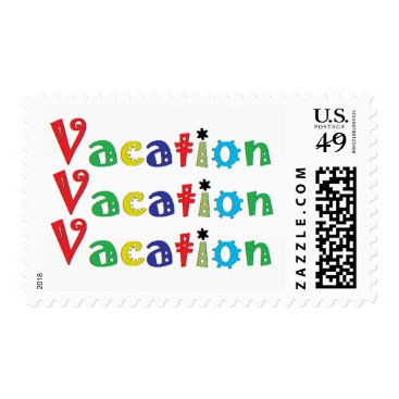 Beach Themed Vacation Postage