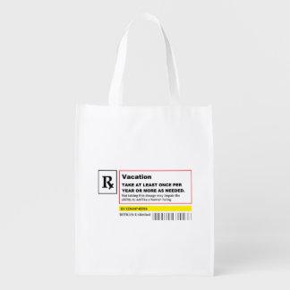 """Vacation Prescription"" Reusable Bag"