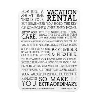 Vacation Rental Guest Manifesto Imanes
