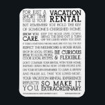 "Vacation Rental Open Guest Magnet<br><div class=""desc"">For Magnets the fridges of your vacation rentals to remind guests to behave themselves!</div>"