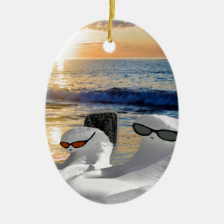 Vacation Retirees Ceramic Ornament